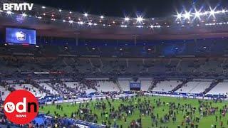 Paris attacks: Explosion heard during football match at Stade de France
