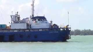 preview picture of video 'Trinity Explorer Ship at Songkhla, Thailand'