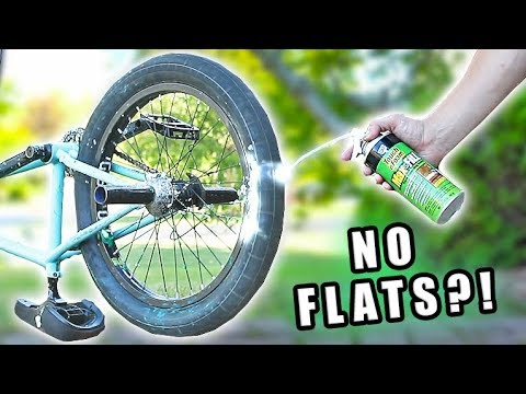 Filling a Bicycle Tire with EXPANDING FOAM!