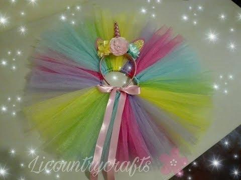 tutu unicornio super facil! / unicorn tutu easy