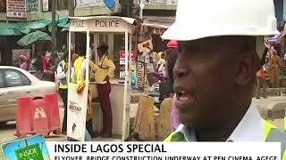 Inside Lagos: Flyover Bridge Construction underway at Pen Cinema Agege