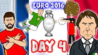 DAY 4! Euro 2016 (Belgium vs Italy 0-2)(Spain vs Czech 1-0)(Ireland vs Sweden 1-1) Goals Highlights
