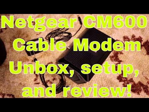 Netgear cm600 modem unboxing, setup, and review