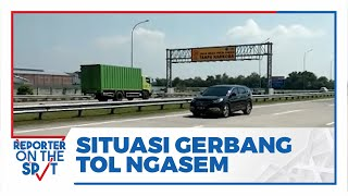 Situasi Terkini Gerbang Tol Ngasem Karanganyar, Didominasi Kendaraan Bongkar Muat