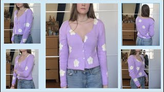 How to Knit a Daisy Cardigan