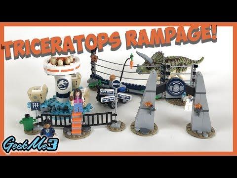 Vidéo LEGO Jurassic World 75937 : La fureur du Tricératops