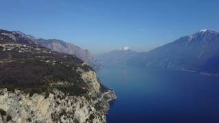 4K - DJI - Mavic Pro - In fligh with drone over Tremosine, (BS) Garda lake.