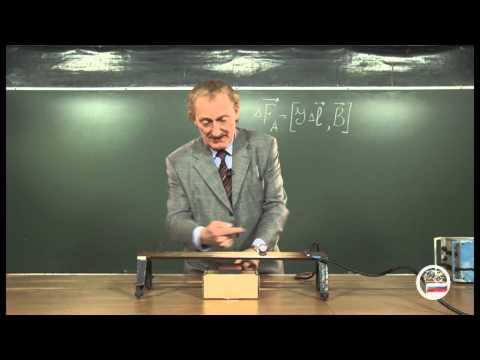 Тележка Эйхенвальда - демонстрация в инженерно физическим институте