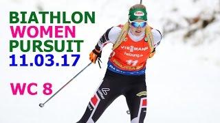 BIATHLON WOMEN PURSUIT 11.03.2017 World Cup 8 Kontiolahti (Finland)