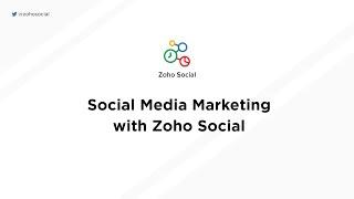 Zoho Social-video