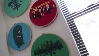 One Minute Tips: Display Vintage Shirts In Embroidery Hoops (with Giverny Petitmermet)