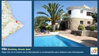 preview picture of video 'Villa se Vende en Benidoleig, Alicante, Spain'