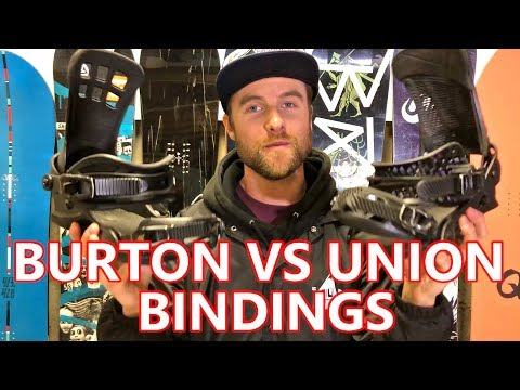 BURTON VS UNION SNOWBOARD BINDINGS