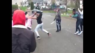 Girls Fight Who Won Jordans Or T-shirt