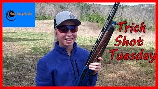Trick Shot Tuesday Little Dirty  &  MEC 100E Clay Target Machine