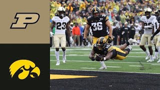 Purdue vs #23 Iowa Highlights | NCAAF Week 8 | College Football Highlights