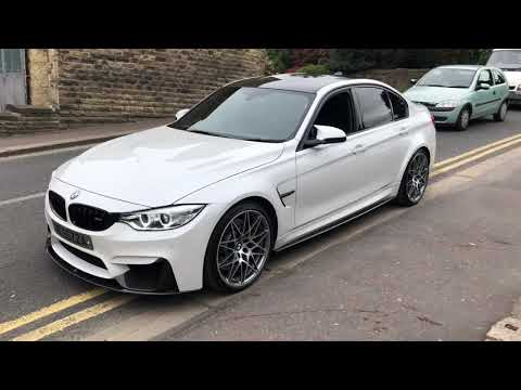 2017 bmw m3 competition pack mineral white pearl carbon exterior and interior