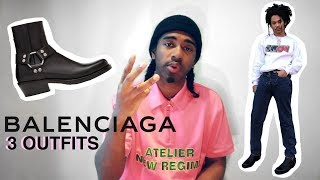 How To Style Balenciaga Buckle Boots - (3 OUTFITS)