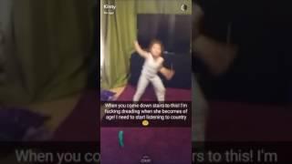 My crazy niece dancing.
