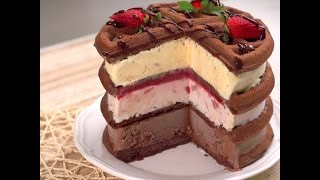 Waffle Ice Cream Cake