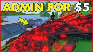 I bought ADMIN for $5 on a UNTURNED SERVER... (Raiding with a Jet)