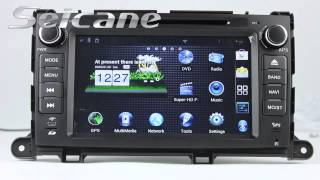 Toyota Sienna Radio Replace to Touch Screen GPS Sat Nav DVD IPod Bluetooth CANBUS