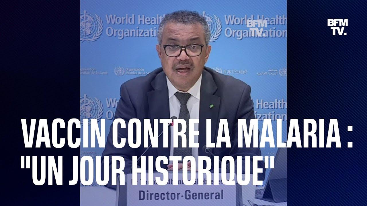 """Vaccin contre la malaria: """"un jour historique"""" selon le directeur général de l'OMS"""