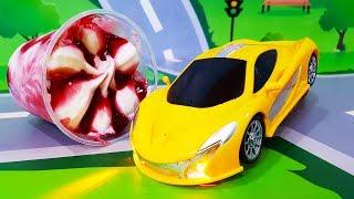 Мультики про машинки. Новая Игрушка – делаем Мороженое и десерт. Мультфильмы для детей - Новые серии