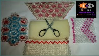How to attach foam,cloth and chain inside the beaded bag/purse/cloth's bag