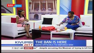 NEMA Deputy Director, Betty Nzioka speaking on the alternatives Kenya has after Plastic ban
