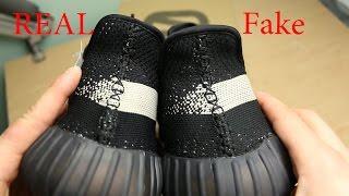 """Yeezy 350 V2 Black/White """"Real vs. Fake"""""""
