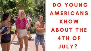 Ci młodzi Amerykanie nic nie wiedzą o 4 lipca – nagranie w j.angielskim