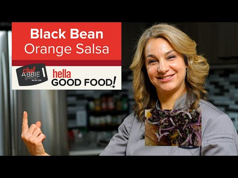 Mandarin Orange Salad with Black Beans