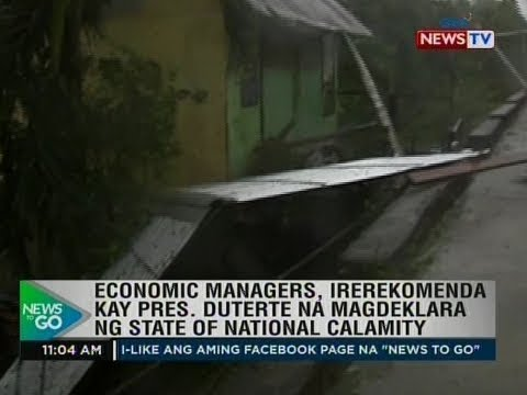 Economic managers, irerekomenda kay Pres. Duterte na magdeklara ng state of national calamity