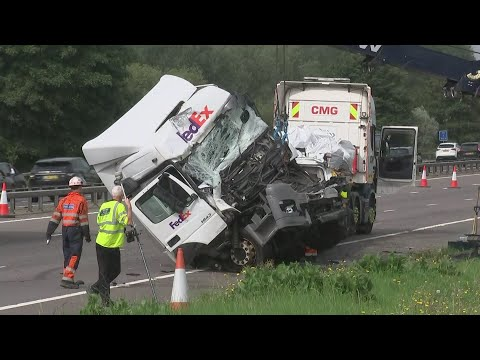 Eight killed in M1 minibus and lorry crash