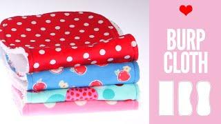 Burp Cloth Pattern - DIY Burp Cloth Pattern In 3 Shapes