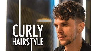 Mens Short Curly Hairstyle For Summer