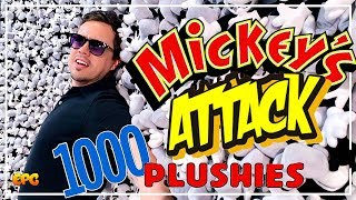 ATTACKED BY THOUSANDS OF MICKEY PLUSHIES! Disney Pop-Up Exhibit Disneyland!