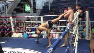 spinning heel kick tko çağan atakan arslan tiger muay thai vs martin sumalee boxing gym