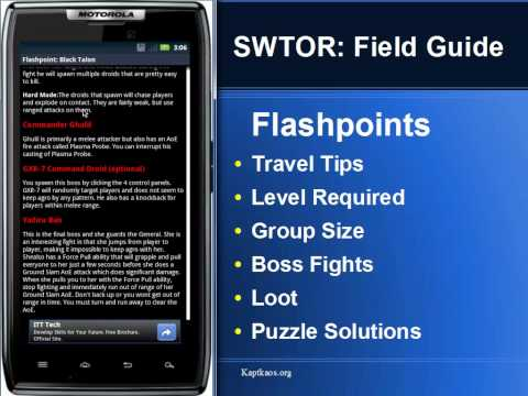 Video of SWTOR: FIeld Guide PRO