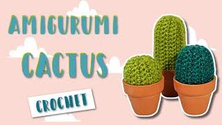 How To Crochet - Easy Beginners Cactus Amigurumi Tutorial | Pattern PDF