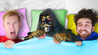 CLOAKER SLEEPOVER at Safe House and Trying to Unmask Him at 3AM while Sleeping