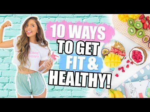 10 WAYS TO GET HEALTHY + FIT 2018! Fitness DIYs, Life Hacks + Recipes!