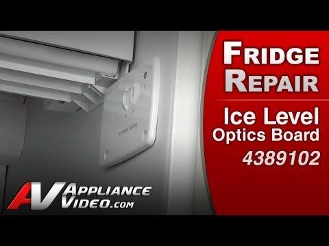 Ice Maker not making or dispensing ice -Level Optics Board-Whirlpool,Kenmore ,KitchenAid # 4389102