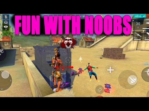Fun with Noobs || Free fire Rank match tips and tricks|| Rank match fun|| Run gaming
