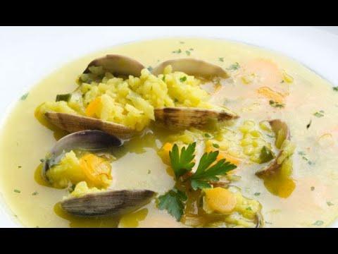 Sopa de arroz con almejas - Karlos Arguiñano