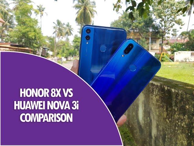 Comparison - Huawei Honor 8X vs nova 3i - PhonesData