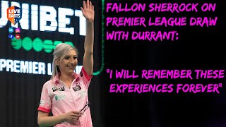 "Fallon Sherrock on Premier League draw with Durrant: ""I will remember these experiences forever"""