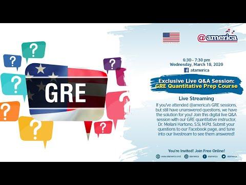 Exclusive Live Q&A Session: GRE Quantitative Prep Course ...