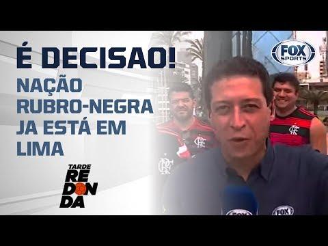 A TORCIDA DO FLAMENGO JÁ FAZ A FESTA EM LIMA, NO PERU!